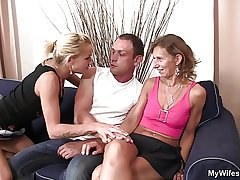 Girlfriends hot mom spread her feet for him