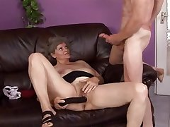 granny gets not fair toying pussy