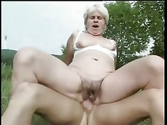 Granny Fucked in a Courtyard