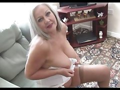 Prexy attractive granny in open girdle coupled with stockings