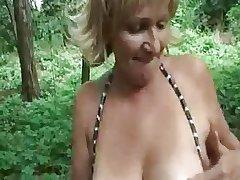 Hungarian amateur granny outdoor