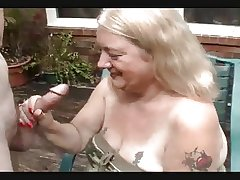REDNECK GRANNY TAKES DONG Close to THE HEAD