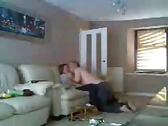 Mam and pater home alone having fun. Hidden cam