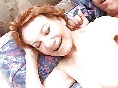 Real RedHead Granny Making out 70yo