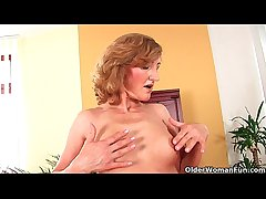Older woman with small breasts coupled with hot body