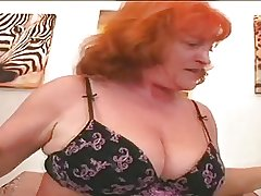 Redhead Granny Old bag Eva Sucking With the addition of Making out