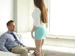 PureMature - Business doll Veronica Ostentatious rides guys hard cock