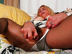 Mature milfs Lexxi increased by Cristine can't control their sex urge