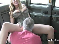 Naughty milf trip big shaft in taxi