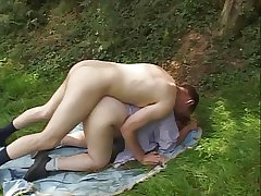 Italian Blonde Grown-up Plumper outdoor rough sex