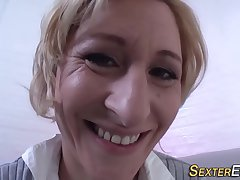Kinky german milf toying