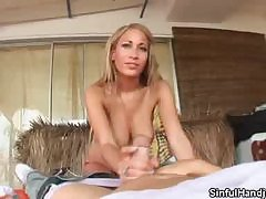 Nymph blonde teenie writing blowjob-ing grandpas