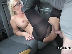 Glum milf masseuse banging in the matter of taxi