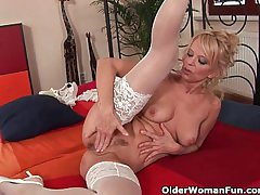 Turn over 50 milf Merilyn works say no to mature pussy