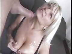 mature blonde woman and suppliant