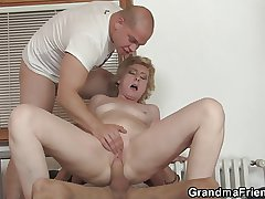 Administering guys garden plot small titted old lady