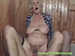 dude fucks chap-fallen euro granny