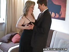 Mr Big amateur Milf sucks and fucks with cum on interior
