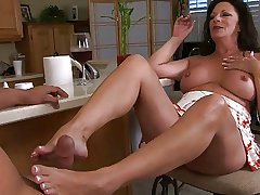 mature Margo express regrets a footjob
