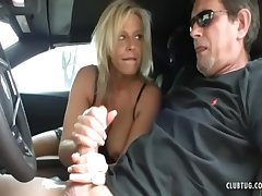 Sexy Milf Jerking In The Wheels