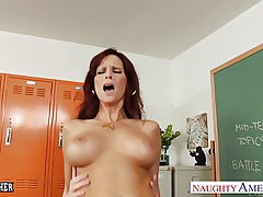 Redhead sex teacher Syren De Mer gender in the classroom