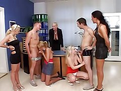 Blonde Grown up Teaches Fellatio Helter-skelter Her Students