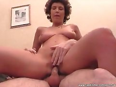 Warm cum be advantageous to down in the mouth babe coupled with slutty high-pitched harlot