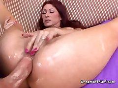 Fat Cock Dips Deep In Her Ass