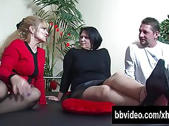 Big breasted of age BBW german slag riding cock
