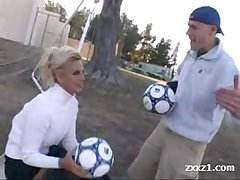 Blonde Soccer spoilt Mature