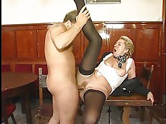 Horny of age MILF likes young load of shit