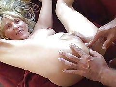 Option slender mature blonde