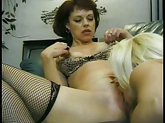 Cute squirting full-grown lesbians less whacking big gut suck pussy and finger each every other
