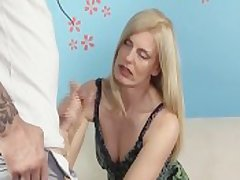 Sweltering Milf Jerks Off Her Step-Son