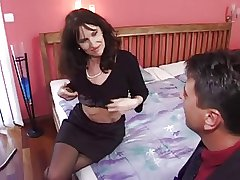 mature milf in stockings gets go to extremes fuck