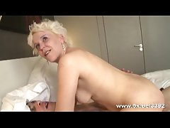 Coralie a French full-grown double fucked