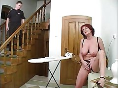 Mature housewife increased by young boy