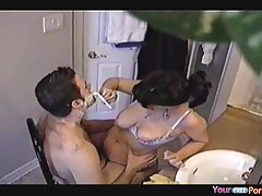 Colette fucks say no to man while shaving his beard