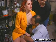 Redhead amateur Milf sucks coupled with fucks with facial cumshot