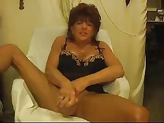 Hot Grown up Cougar Solo Teasing increased by Toying
