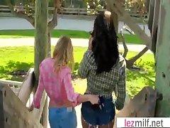 Milf Lesbians (Brianna Ray & Emily Briar) In the air Sex Scene clip-08