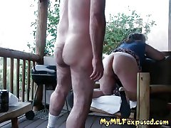 My MILF exposed - gender my plumpy adult slut outdoors