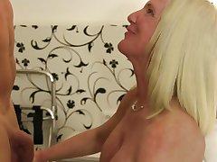 XXX Omas - German tiro sex with big titted grown up blondie