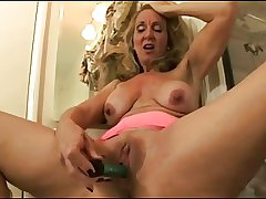 mature bringing off with dildo