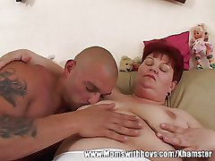 Horny Adult Lady Seduces The TV repair-Man