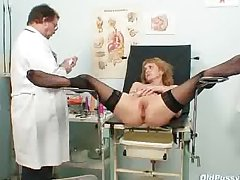 Anorectic MILF Nora gyno clinic exam by kinky dilute