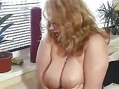Horny german BBW matured fingered and fucked