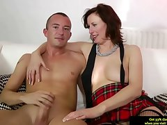 Mature stockings plowed newcomer disabuse of behind in high def
