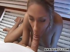 Blonde mom banged by latin guy