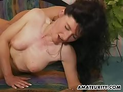 Amateur Milf anal feigning respecting facial cumshot